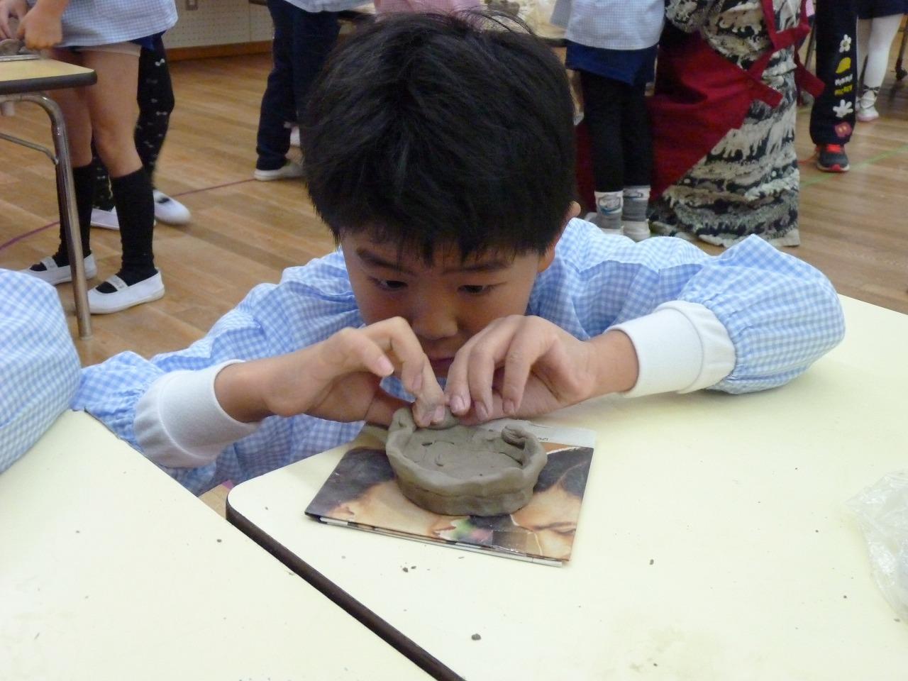 12月18日(月)年長組 作陶教室