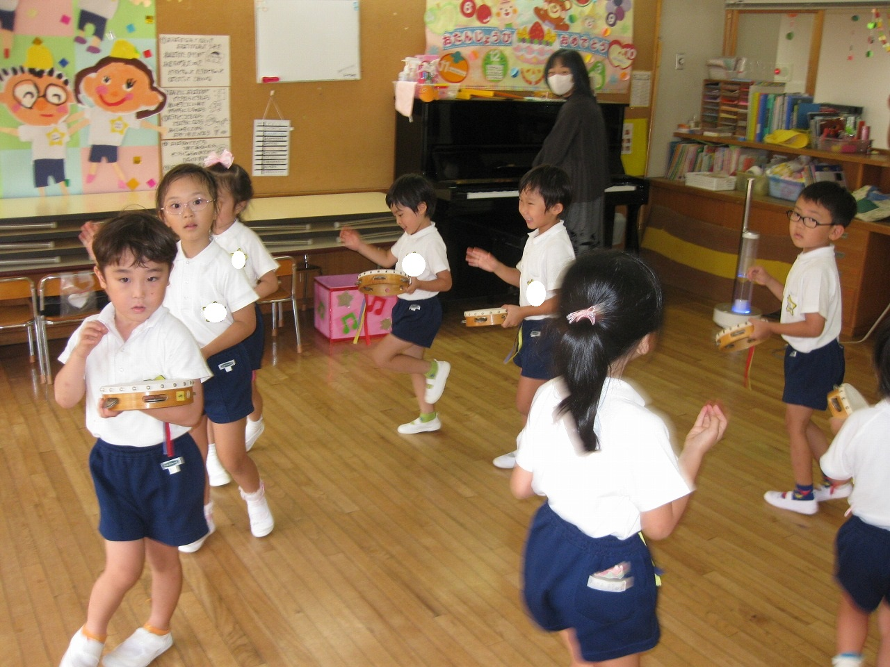 10月7日 音楽指導がありました。