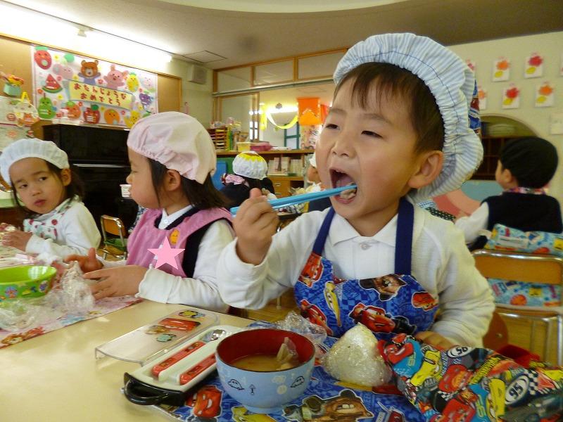 1月15日(火)子どもクッキング「豚汁」